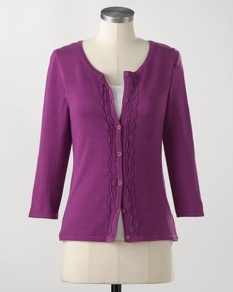 Coldwater Creek Silk/cotton chiffon cardigan