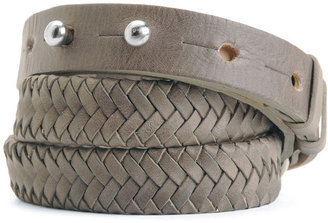 Rag and Bone Braided D-Ring Belt - Taupe