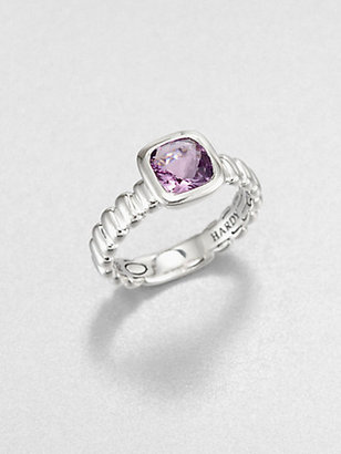John Hardy Amethyst and Sterling Silver Ring