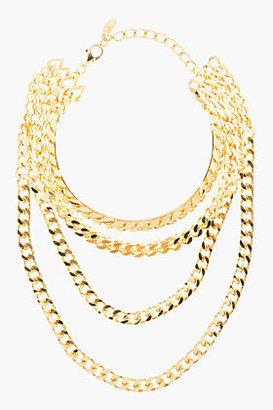 Giuseppe Zanotti Gold Draped Multi-Chain Choker necklace
