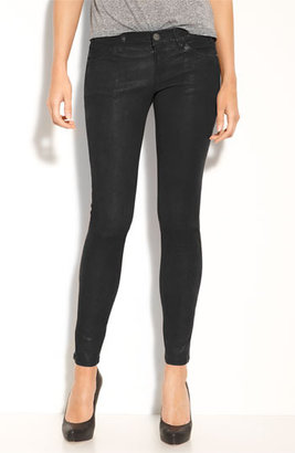 Current/Elliott Leather Skinny Ankle Pants