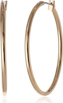 Anne Klein Classics Gold-Tone Thin Hoop Earrings