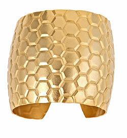 Andrea Valentini Goldtone Hive Cuff
