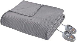 Simmons Knitted Micro Fleece Heated Blanket