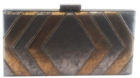 Sondra Roberts Chevron Metallic Box Clutch