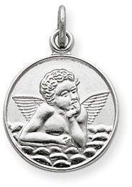 Germ Guardian Sterling Silver Guardian Angel Medal ...