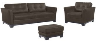 """Martino Leather Living Room Furniture"
