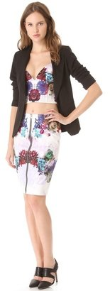 Nicholas Digi Floral Denim Skirt