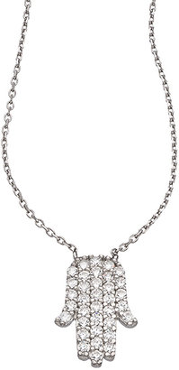 Swarovski J Weber Sterling Silver and Crystal Peaceful Hand Pendant Necklace