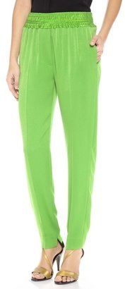 3.1 Phillip Lim Smocked Waistband Tapered Trousers