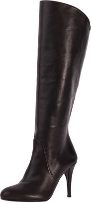 Stuart Weitzman Park Stretch-Inset Napa Leather Knee Boot