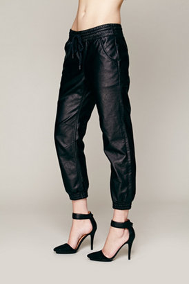 Free People Vegan Leather Slouch Pant