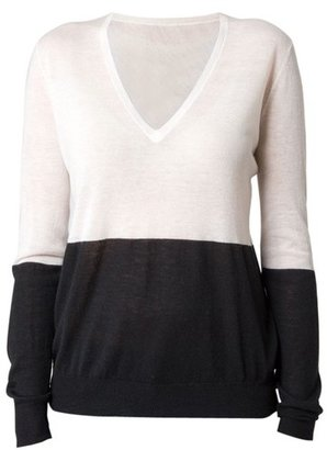 Joseph Cashair Block Sweater