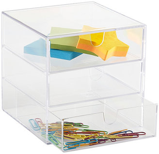 Container Store 3-Drawer Box Clear