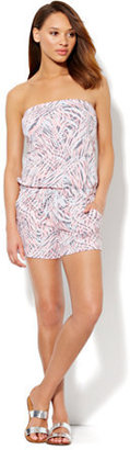 New York & Co. Love, NY&C Collection - Strapless Print Romper