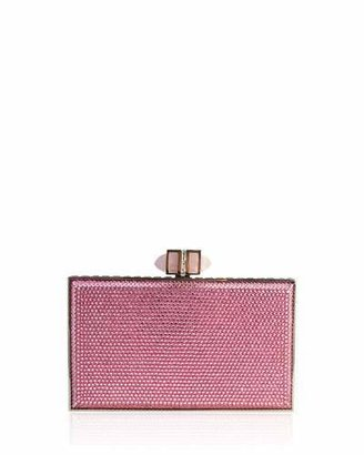 Judith Leiber Couture Neiman Marcus Exclusive Crystal Coffered Rectangle Clutch Bag, Silver/Light Rose $3,195 thestylecure.com