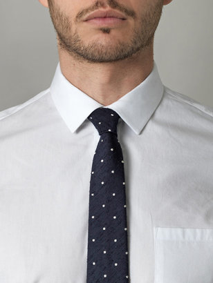 Gant Raw silk polka-dot tie