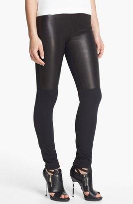 Milly 'Bri' Leather Panel Leggings