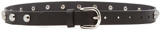 Isabel Marant Tania Calfskin Leather Belt in Black
