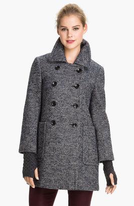 Calvin Klein Double Breasted Tweed Coat