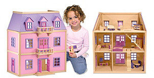 Melissa & Doug Melissa Doug Multi-Level Wooden Dollhouse