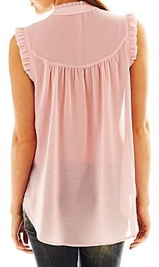 JCPenney Ruffled High-Low Blouse