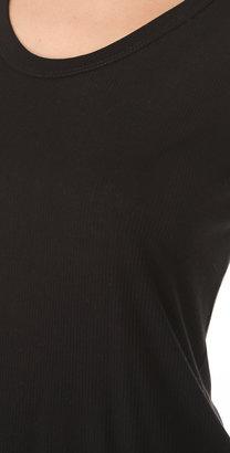 Enza Costa Rib Panel Short Sleeve Tee
