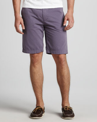7 For All Mankind Chino Twill Shorts, Purple