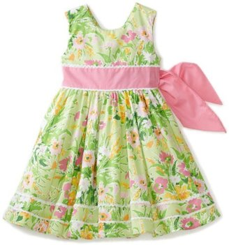 Hartstrings Girls 2-6X Printed Lace Trimmed Dress