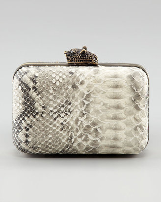 House Of Harlow Marley Snake-Embossed Clutch Bag, Natural