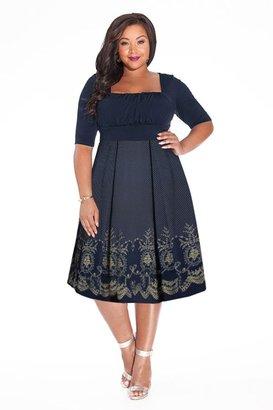 IGIGI Hayleigh Plus Size Dress in Midnight Blue