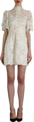 Dolce & Gabbana Victorian Floral Lace A-Line Dress