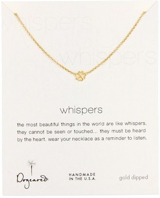 Dogeared Jewels Whisper Necklace Bloom 18 (Gold Dipped) - Jewelry