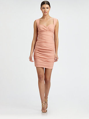 Nicole Miller Sweetheart Tuck Dress
