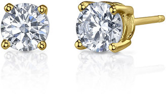 FINE JEWELRY 1 CT. T.W. Diamonore Simulated Diamond 14K Yellow Gold Stud Earrings $249.99 thestylecure.com