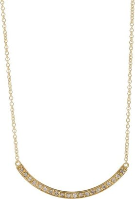 Jennifer Meyer Women's Curved Stick Pendant Necklace-Colorless
