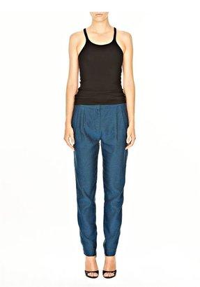 Alexander Wang Linen Two Tone Double Pleat Trouser