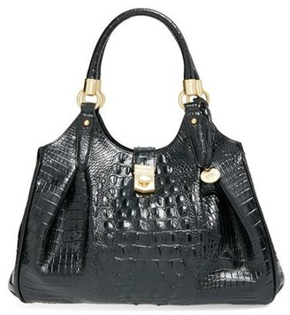 Brahmin 'Elisa' Croc Embossed Leather Shoulder Bag - Black $375 thestylecure.com