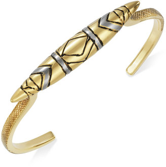 House Of Harlow Bracelet, Two-Tone Tribal Totem Cuff Bracelet