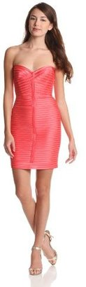 BCBGMAXAZRIA Women's Lillie Strapless Dress with Strapping