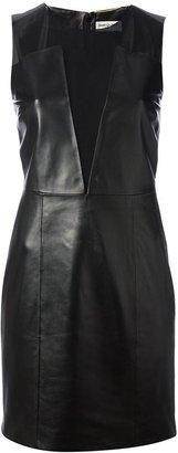 Saint Laurent sheer panel dress