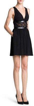 MANGO Outlet Lace Appliqué Flowy Dress