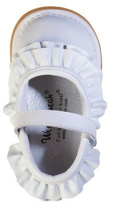 Toddler Girl's Wee Squeak Ruffle Genuine Leather Mary Jane Shoes - Assorted Colors