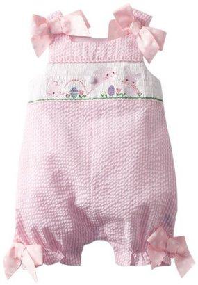 Mud Pie Baby-Girls Newborn Bunny Smocked Bubble