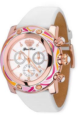 Glam Rock 46mm Smalto Chronograph Watch, Pink