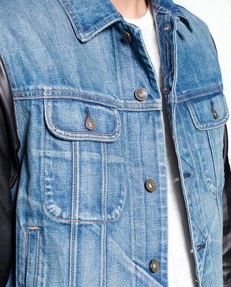 Rag and Bone Jean Jacket w/ Leather - Perfect Wash