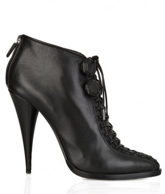 Givenchy pristine (PR Lace-Up Leather Ankle Boots Black 38.5 - 8
