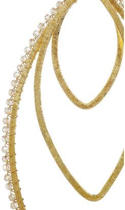 Chan Luu Gold-plated Swarovski crystal earrings