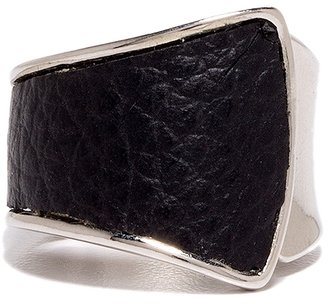 The Limited Hinged Faux Leather Ring