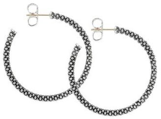 Women's Lagos Medium Caviar Hoop Earrings $225 thestylecure.com